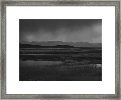 Framed Print featuring the photograph Rain At The Marshes by Jenessa Rahn