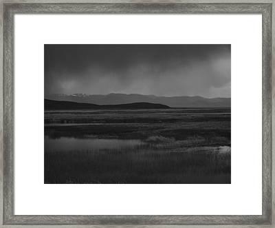Rain At The Marshes Framed Print by Jenessa Rahn