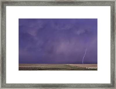 Rain Bolt Framed Print
