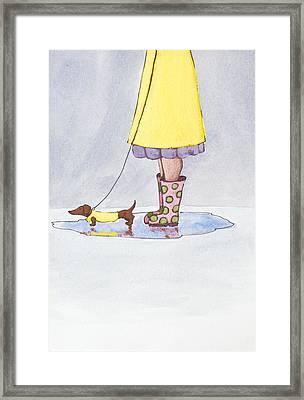 Rain Boots Framed Print