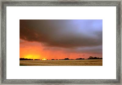 Rain Burst Framed Print by Dave Woodbridge