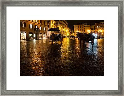 Rain Chased The Tourists Away... Framed Print by Georgia Mizuleva