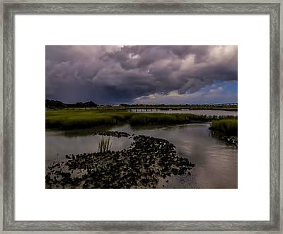 Rain Clouds Framed Print by Zina Stromberg