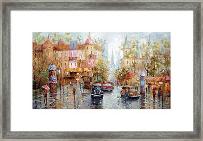 Rain Framed Print by Dmitry Spiros