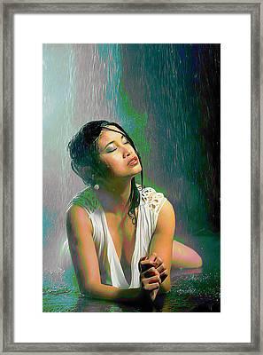 Rain Down On Me Framed Print
