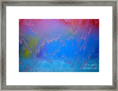 Rain Drops Abstract Framed Print by Haleh Mahbod