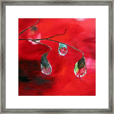 Framed Print featuring the painting Rain Drops Study by LaVonne Hand