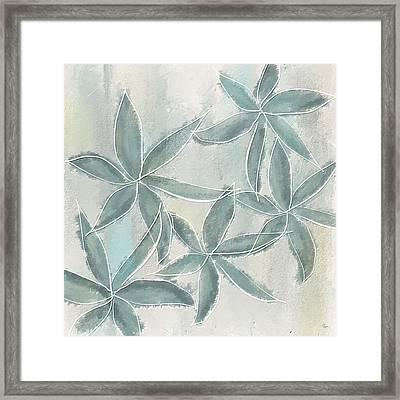 Rain Flowers Framed Print by Lourry Legarde