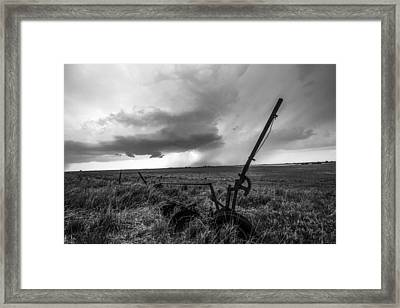 Rain Follows The Plow Framed Print