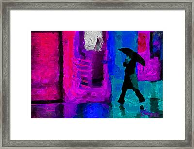 Rain In January Tnm Framed Print