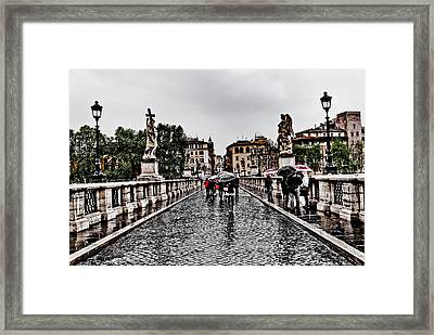 Rain In Rome Framed Print by Francesco Zappala