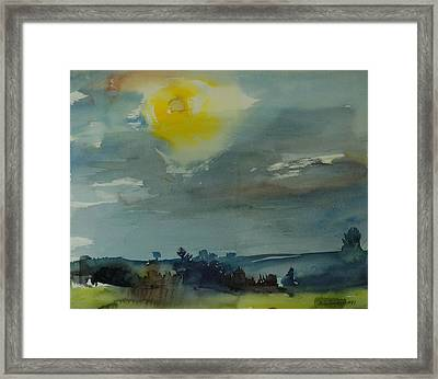 Rain In The Air, 1981 Wc On Paper Framed Print