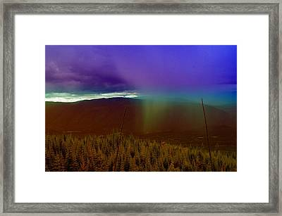 Rain North Of Bonners Ferry Framed Print by Jeff Swan