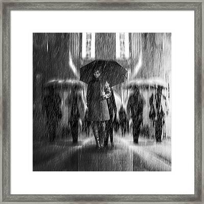 Rain Of Sadness Framed Print