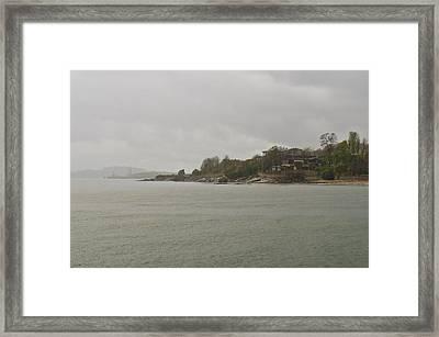 Rain Of Tartan Colours Framed Print