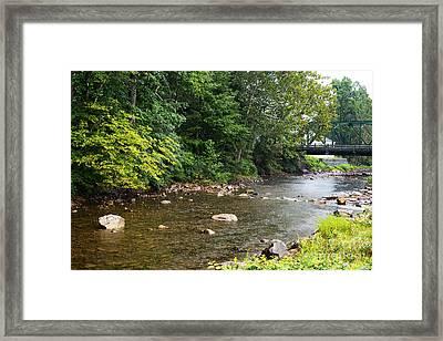 Rain On Elk River Framed Print by Thomas R Fletcher