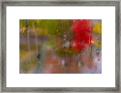 Rain On Glass Framed Print by Susan Stone