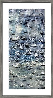 Rain On Gray's Harbor Framed Print
