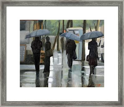 Rain On Saint Germain Framed Print