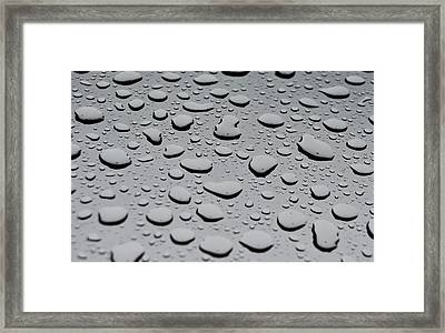 Rain On Sunroof Framed Print