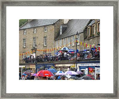 Rain On The Parade Framed Print by Suzanne Oesterling