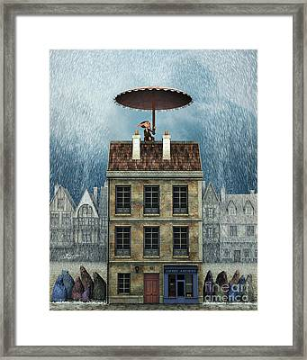 Rain Protection Framed Print by Jutta Maria Pusl