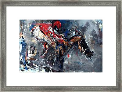 Rain Race Framed Print