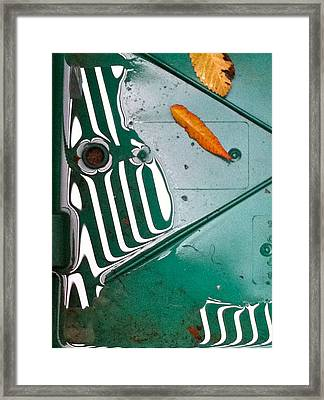 Framed Print featuring the photograph Rain Reflections by Bill Owen