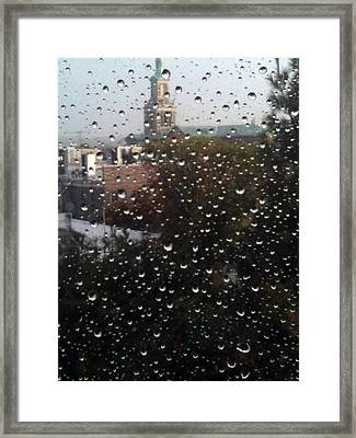 Rain Ride On Subway Framed Print by Mieczyslaw Rudek Mietko