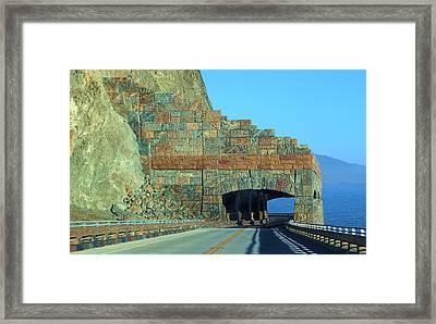 Rain Rocks Rock Shed Framed Print by Viktor Savchenko
