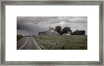 Rain Rolling In Framed Print by Heather Applegate