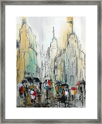 Rain Romance Framed Print