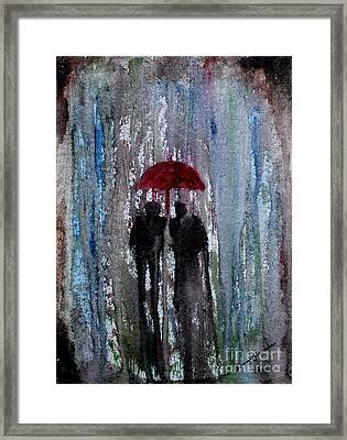 Framed Print featuring the painting Rain by Saranya Haridasan