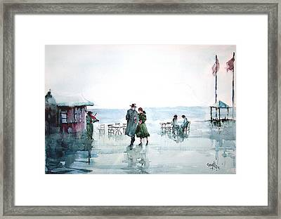Framed Print featuring the painting Rain Serenad - Moments Of Life... by Faruk Koksal