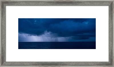 Rain Squalls At The Sea, Negril Framed Print
