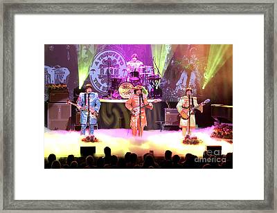 Rain  The Beatles Tribute Band Framed Print by Concert Photos
