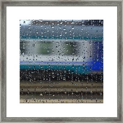 #rain #train #abstractphotography Framed Print
