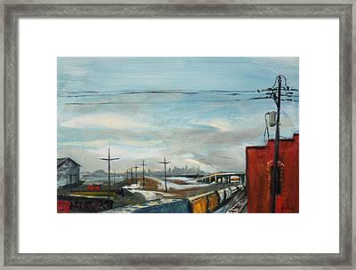 Rain Train Framed Print by Asha Carolyn Young
