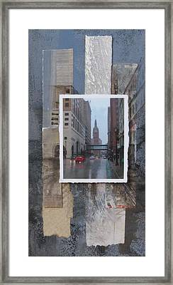 Rain Water Street W City Hall Framed Print by Anita Burgermeister