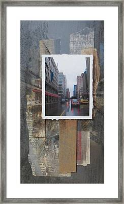 Rain Wisconcin Ave Tall View Framed Print by Anita Burgermeister