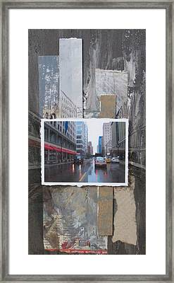 Rain Wisconsin Ave Wide View Framed Print by Anita Burgermeister