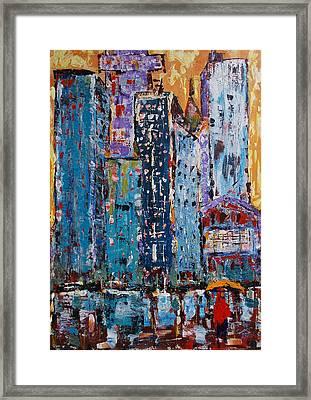Rain Framed Print by Zeke Nord
