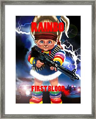Rainbo First Blood Framed Print by Tim Myers