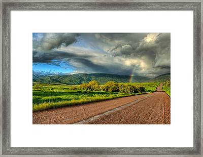 Rainbow After The Storm Framed Print