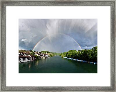Rainbow And Anticrepuscular Rays Framed Print