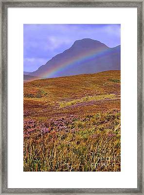 Rainbow And Heather Framed Print
