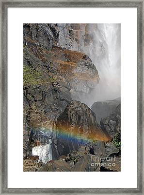 Rainbow And Mist Framed Print