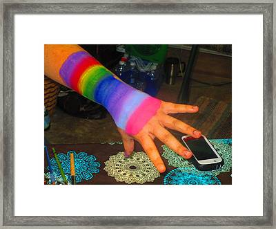 Rainbow Arm Framed Print