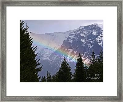 Rainbow At Glacier National Park Framed Print