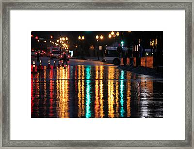 Rainbow Ave Framed Print